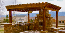 customer woodworking pergola